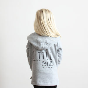 Unisex 'Little One' Zip Hoody - clothing