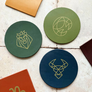 Zodiac Leather Coasters