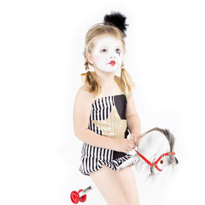 Littlekit Pierrot Top And Shorts - fancy dress