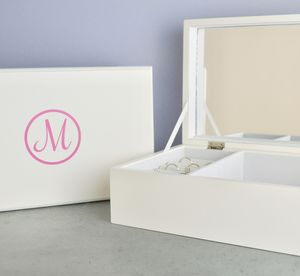 Personalised Monogram Jewellery Box