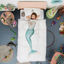 Snurk Children's Mermaid Duvet Bedding Set