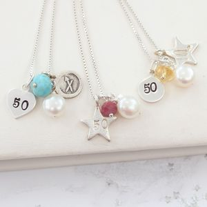 Personalised Celebrate 50th Birthday Necklace