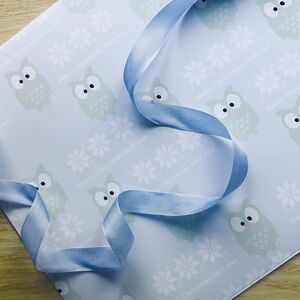 Personalised Christmas Owl Wrapping Paper