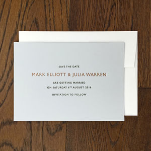 Elmore Letterpress Save The Date