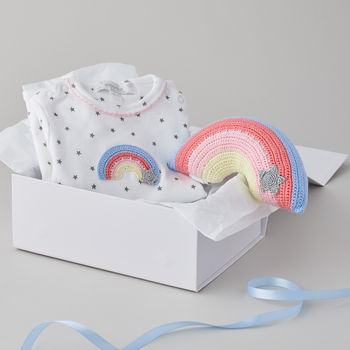 Crochet Rainbow Baby Gift Set