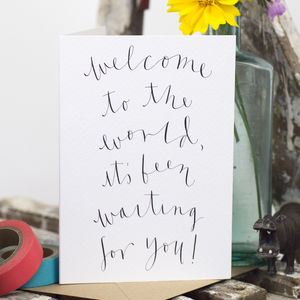 'Welcome To The World' New Baby Card