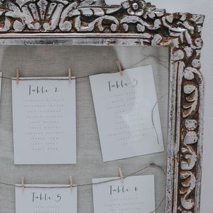 Amour Table Plan Cards - room decorations