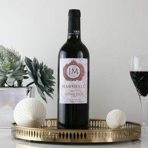 Marble 'Chateau' Personalised Wine - wine