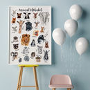 Animal Alphabet Art Print For Nursery Or Playroom
