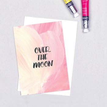 Celebration Card 'Over The Moon'
