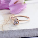 Achillies 9ct Rose Gold Pear Morganite Boho Ring