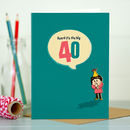 Big 40th Special Age Birthday Card