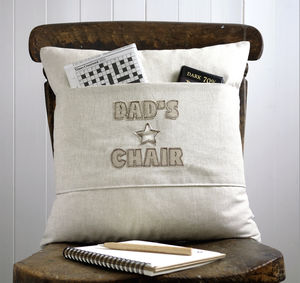 Personalised Pocket Cushion With Stars - for him