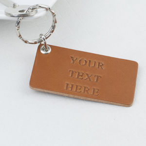 Personalised Leather Key Ring - keyrings