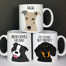 Personalised Dog Love Gift Mug