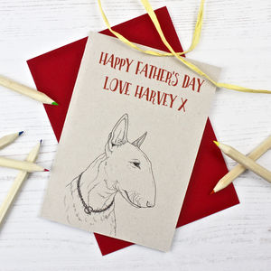 Bull Terrier Father's Day Card - personalised cards