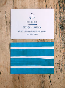 Nautical Wedding Save The Date Cards - wedding stationery