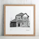 Personalised Detailed House Illustration