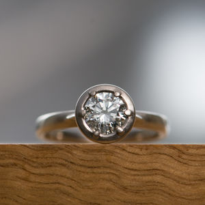 White Gold Engagement Ring - engagement rings