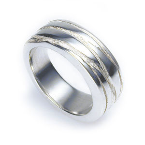Silver Texture Bound Ring - rings