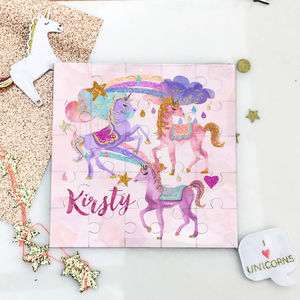 Personalised Unicorn Puzzle Gift
