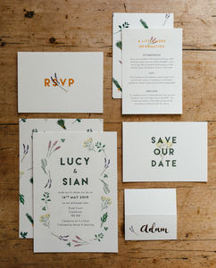 Herb Garden Wedding Stationery Collection - invitations