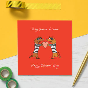Partner In Crime Valentine's Card