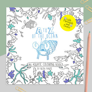 A To Z Of The Ocean: An Aquatic Colouring Book - whatsnew