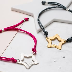 Personalised Superstar Friendship Bracelet - what's new