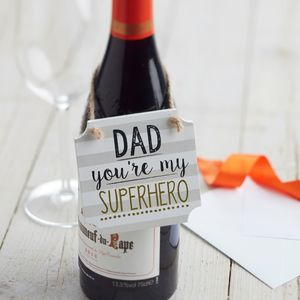 Dad Super Hero Gift Tag Sign - home accessories