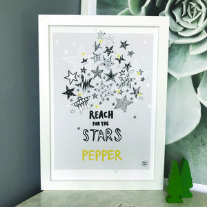 Personalised Reach For The Stars Print