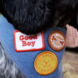 Dog Merit Badge Patches - gifts for pets