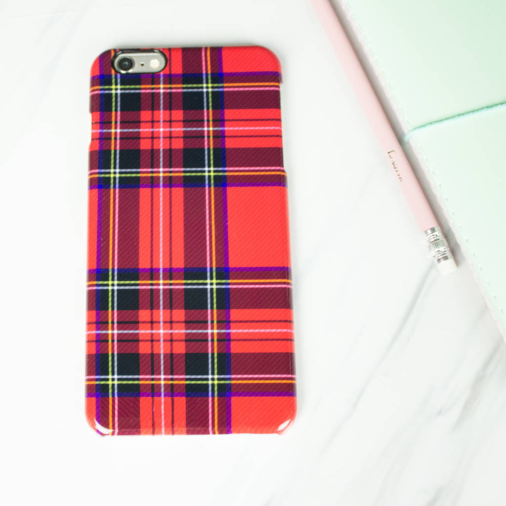 Tartan Red Phone Case
