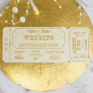 Personalised Wooden Invitation Save The Date - what's new