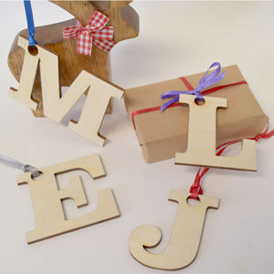 Initial Letters Gift Tags - wedding favours