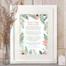 Personalised Poem Print