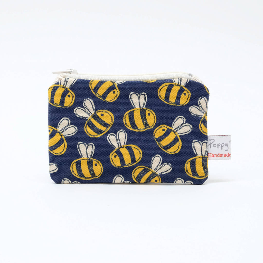 Busy Bee Small Zip Coin Purse