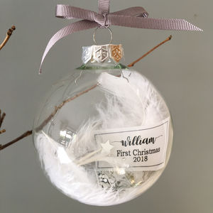 1st Christmas Bauble - christmas decorations