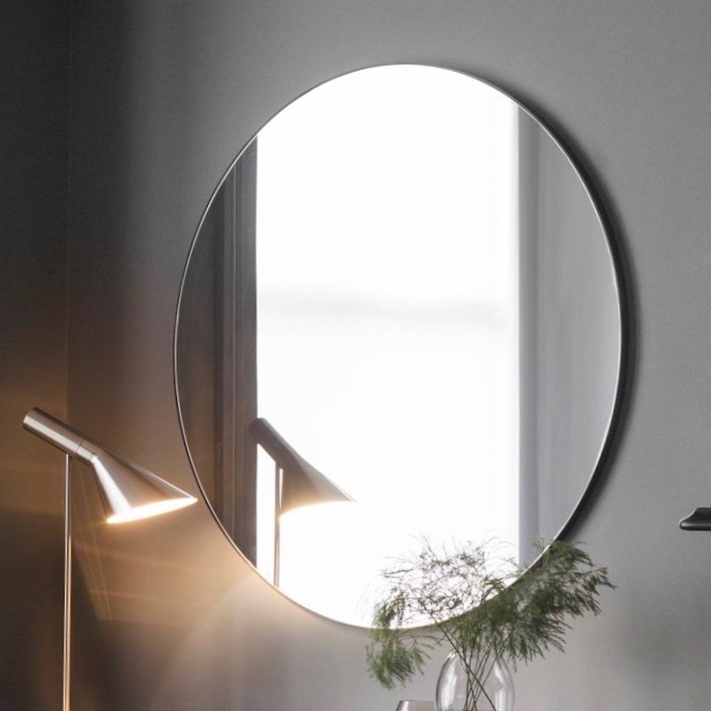 Extra large slim round mirror by the forest co for Extra large round mirror
