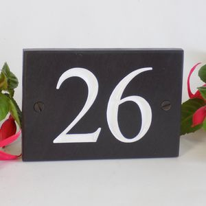 Personalised Slate Number Sign - home decorating