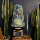 Enchanted Wood Oversized Cone Lampshades In Grass Green