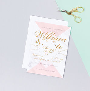 Wedding Save The Date And Invitation : Kensington