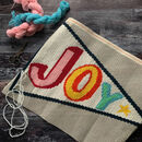 Cross Stitch Joy Pennant Craft Kit