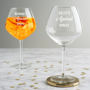 Personalised Aperol Spritz Glass - drink & barware