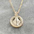 Madonna Charm Pendant In Gold Or Silver