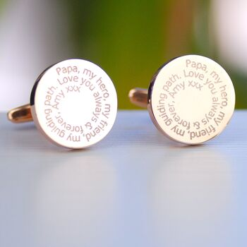 Daddy Special Message Cufflinks