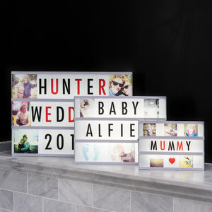 Personalised Photo Cinema Lightbox - decorative letters