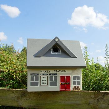 Personalised Train Station Bird Box