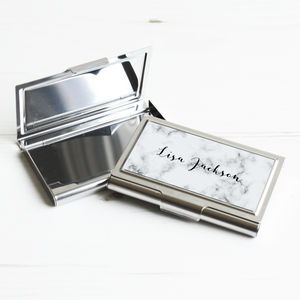 Personalised Marble Business Card Case - card holders