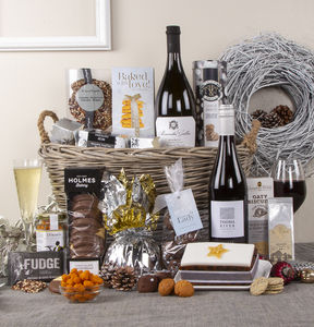 Snowy Delights Festive Christmas Hamper - wines, beers & spirits